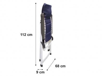 Campingmöbel mit ALU Campingtisch Rolltisch und 4er SET Campingsstühle klappbar - Vorschau 3