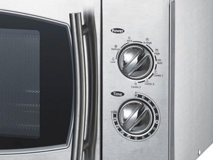 Profi Edelstahl Mikrowelle mit Grill, 900W, 23 Liter, Mikrowelle Microwelle - Vorschau 3