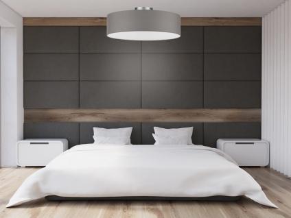 Deckenleuchte mit Stoff Lampenschirm Grau 40cm - Textil Deckenlampe Stoffschirm - Vorschau 5