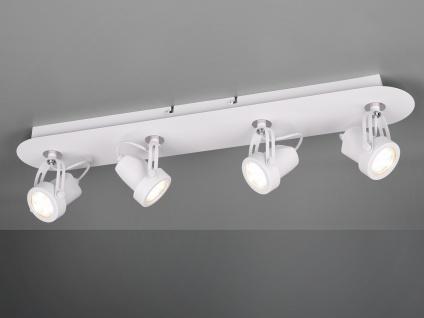 RETRO Deckenstrahler 4-flammig Weiß LED Beleuchtung Flur, Diele und Treppenhaus