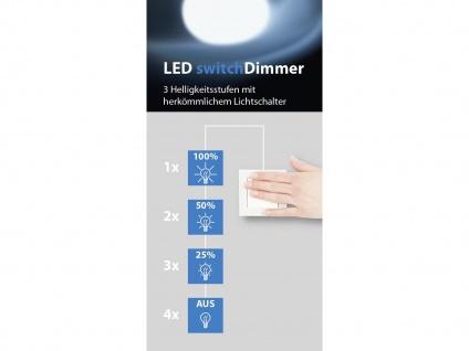 LED Deckenlampe Wandleuchte mit Dimmer aus Glas quadratisch fürs Ankleidezimmer - Vorschau 3
