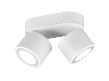 LED Deckenstrahler 2-flammig Weiß schwenkbare Deckenlampen für Flur und Diele - Vorschau 2