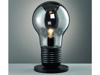 Coole Tischleuchte LOUIS Höhe 50cm - Retro Tischlampe Design Glühbirne für Flur