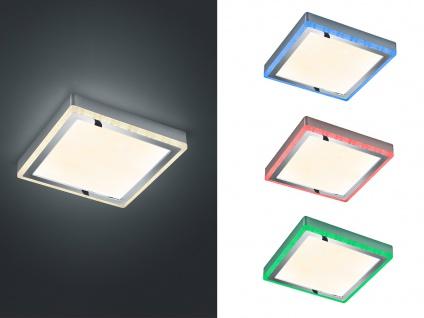 LED Deckenleuchte flach viereckig 25cm mit Fernbedienung Farbwechsel Deckenlampe