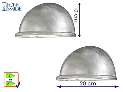 2 Stk Konstsmide Wandleuchte Downlight TORINO galvanisiert, Beleuchtung außen