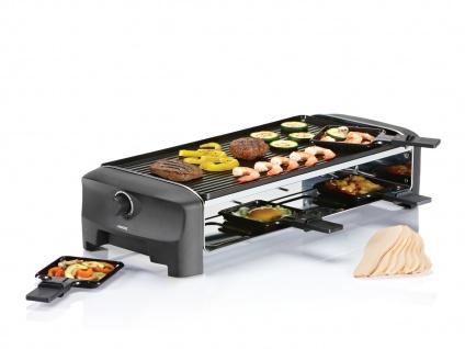 PRINCESS Raclette Gerät mit wendbarer Grillplatte für 8 Personen Raclet Raklett