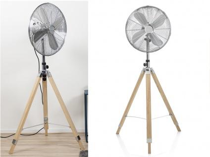 Oszillierender Standventilator mit Holzstativ 2er Set höhenverstellbar Ø 45cm