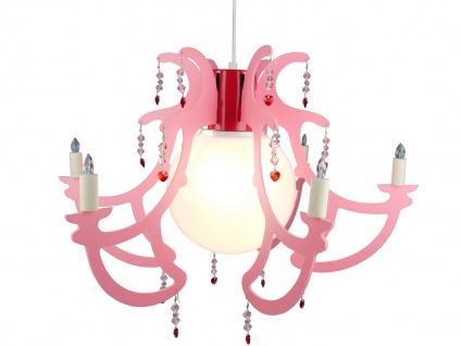 LED Hängelampe Kinderzimmer rosa LED Kinderzimmerleuchte Kronleuchter ROSATA - Vorschau 2