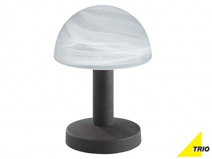 LED Touch Nachttischlampen Rostfarben mit Glasschirm dimmbar - fürs Schlafzimmer