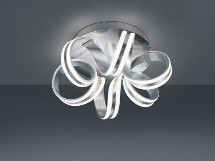 Geschwungene LED Deckenlampe, große Wohnzimmerlampe wellenform Spirale Aluminium