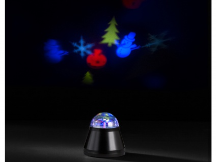 LED Tischleuchte/Nachtlicht projiziert Winterbilder 4W LED Multicolor mit Motor - Vorschau 1