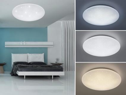 LED Deckenleuchte dimmbar, Deckenschale mit Fernbedienung Sternenhimmel - Ø60cm