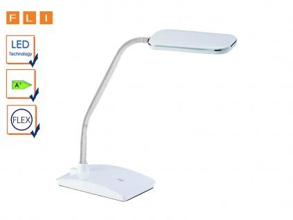 LED Schreibtischlampe weiß mit Flexarm & Touchdimmer fürs Büro - Tischleuchte