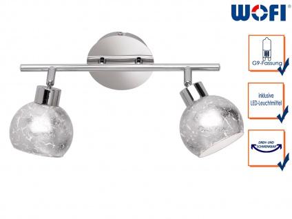 Design LED Deckenleuchte Spots drehbar Silber G9, Wohnraumleuchte Dielenlampen - Vorschau 1
