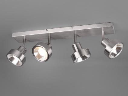 RETRO Deckenstrahler 4-flammig Silber Beleuchtung Flur, Diele und Treppenhaus