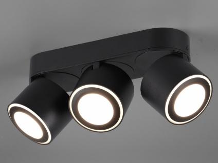 LED Deckenstrahler 3-flammig Schwarz schwenkbare Deckenlampen für Flur und Diele