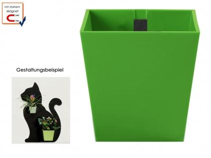 Kunststofftopf mit Magnet Ø 9 cm Grün, Wandaufbewahrung Wanddeko, KalaMitica