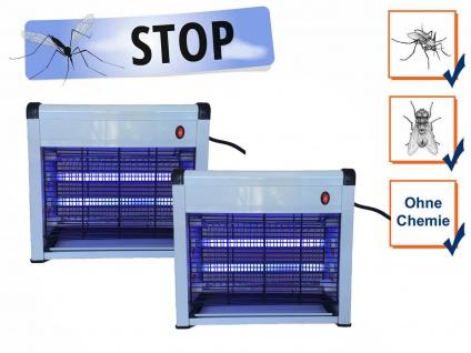 Praktische Insektenvernichter mit 8 Watt UV-Lampen, 2er Set Mückenfallen