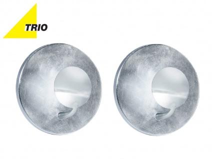 LED Wandleuchte Wandlampe AURORA im 2er Set Chrom, Silber, Ø 20 cm 2x LED