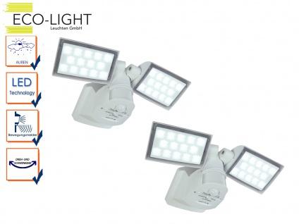 2er Set LED Außenfluter Wand mit Bewegungsmelder und Ambiente Light Funktion