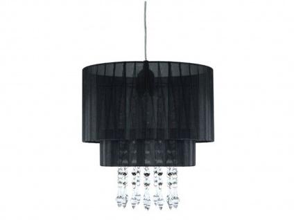 Pendelleuchte mit dimmbare LED Acrylanhängern, Schirm schwarz, Hängelampe Pendel