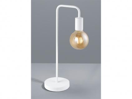 Retro Standleuchte 51cm aus Metall in weiß matt mit FILAMENT LED für Eßzimmer