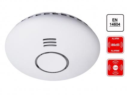 Design Funkrauchmelder bis 20m Reichweite 12 Melder vernetzbar - Küchentauglich