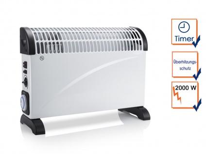 2000W Turboboost Elektroheizung Konvektor mit Thermostat & Timer, Campingheizung