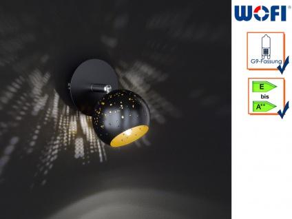 Wandleuchte Spot drehbar Schwarz/Gold G9, Wandleuchte Wohnzimmer Schlafzimmer