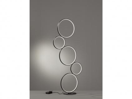LED Stehlampe Ringleuchte für Wohnzimmer Schlafzimmer Flurlampen Galerie schwarz