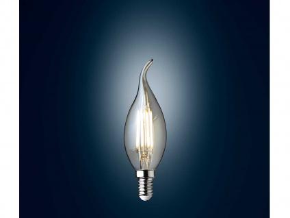 Sturmkerze goldfarbig Filament LED dimmbar E14 Vintage für Kronleuchter 3 Watt