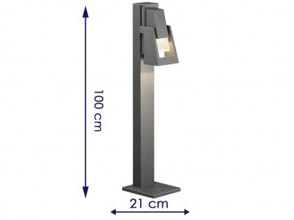 2er-Set Wegeleuchten POTENZA Sockelleuchten austauschbares LED Modul - Vorschau 2