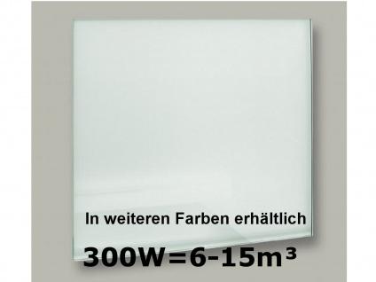 300W Infrarot-Glaspaneel weiß, 70x50cm, für Räume 6-15m³