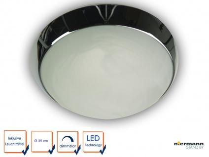 Korridorleuchte LED Esszimmerlampe LED Leuchte rund Ø35cm Dekorring Chrom - Vorschau 1