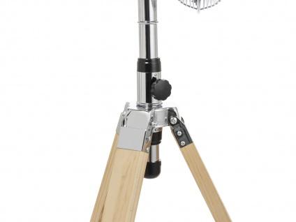 Oszillierender Standventilator mit Holzstativ höhenverstellbar Ø 45cm fürs Büro - Vorschau 5