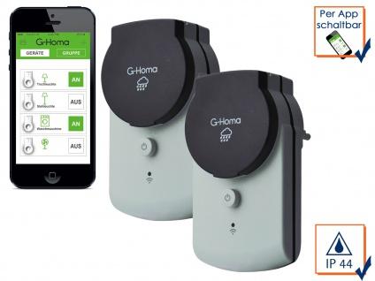 G-Homa 2er SET WiFi Outdoor Schaltsteckdosen, schalten per APP Funksteckdosen