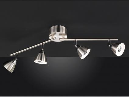 LED Deckenbalken Nickel matt 4 Spots schwenkbar 18W Deckenstrahler Deckenleuchte - Vorschau 4