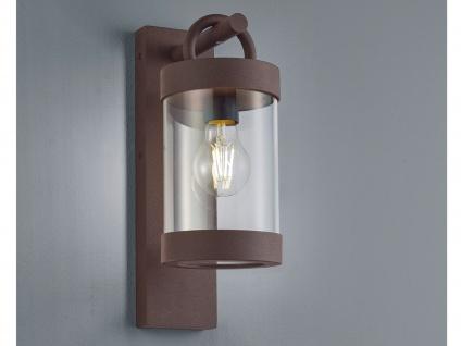 Außenwandleuchte in Rostoptik moderne Laterne E27 - Außenwandlampen für Hauswand
