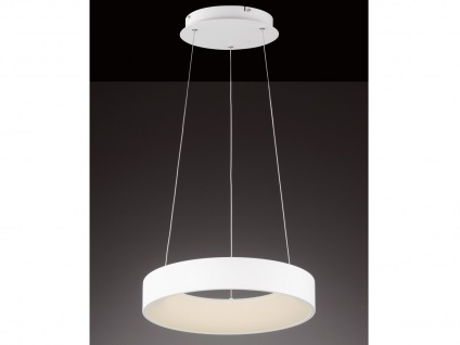 Runde LED Pendelleuchte Lampenschirm weiß - Hängeleuchte für den Esstisch Lampen - Vorschau 2