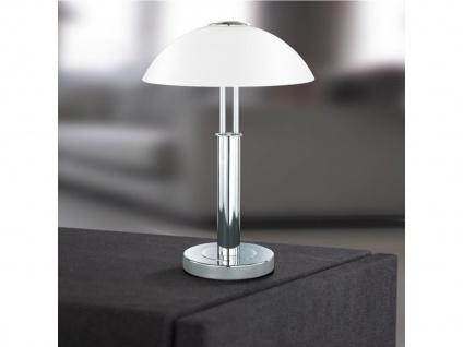 Tischleuchte Chrom, Höhe 42 cm, Touchdimmer Wofi-Leuchten