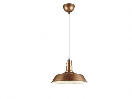 Retro LED Pendelleuchte Ø31cm in Kupfer antik Hängelampe für Esszimmer Flurlampe - Vorschau 2