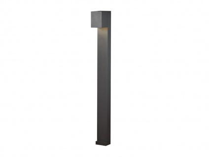 100cm hohe LED Gehwegleuchte aus ALU in anthrazit Lichtstrahl 0°-90° einstellbar - Vorschau 2