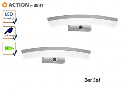 2er Set LED Wandlampe FERROL, Touchdimmer, Wandleucthten LED Design Leuchte
