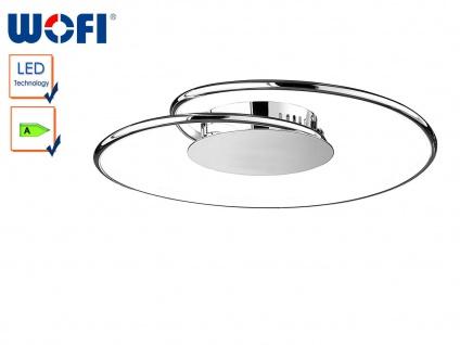 Wofi LED Deckenleuchte LOUIS 45 cm dimmbar, Deckenlampe rund Wohnzimmer Flur