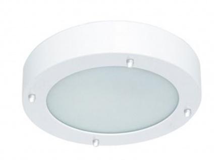 Bad-/Flur-Deckenleuchte Stahl/frosted glass, IP44, inkl. G9 LM RANEX - Vorschau 1
