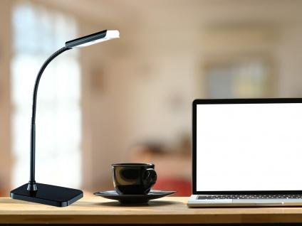 Moderne LED Schreibtischleuchte flexibel & biegsam PICO in Schwarz Höhe 28cm