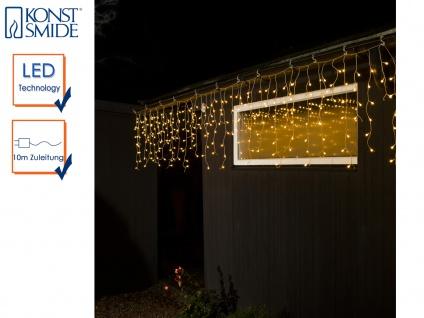 LED Eisregen Lichtvorahng 200 warm weiße Globs IP44 Dekoleuchten Stimmungslicht