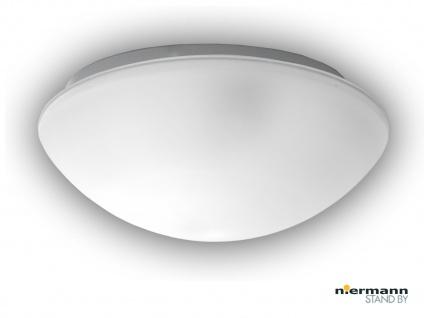 Flurlampe Dielenbeleuchtung Deckenschale rund Ø 35cm Glaslampe SATINIERT