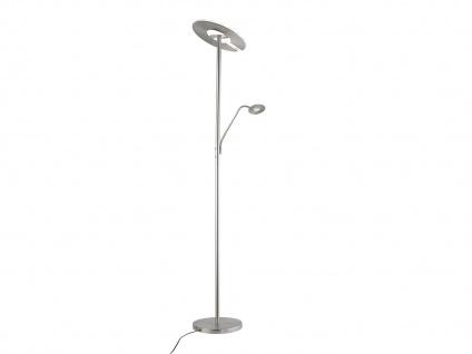Honsel LED Stehleuchte, Deckenfluter mit Leselampe, dimmbar, Lichtfarbe flexibel