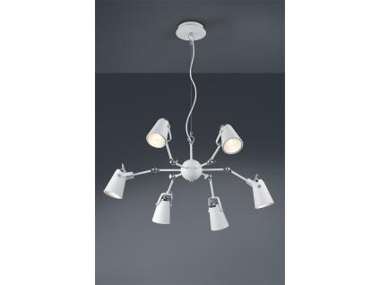 Dimmbare Hängeleuchte aus Metall, 6 verstellbare Spots, Hängelampe Esstischlampe